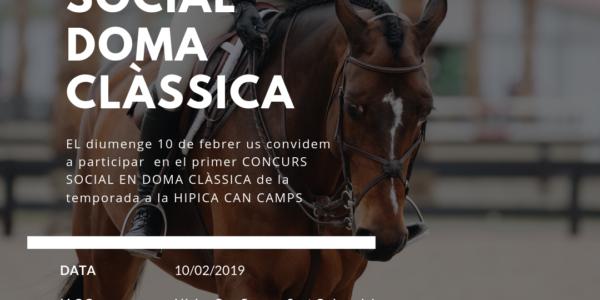 PRIMER CONCURS SOCIAL DE DOMA CLÀSSICA DE LA TEMPORADA